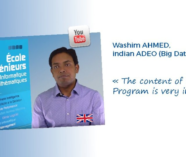 Eisti On Twitter Interview With Washim Ahmed Indian Adeo Big Data Student At The Eisti Https T Co Zfqteqvqq