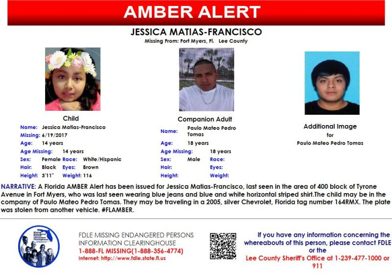 BREAKING: AMBER Alert issued for Lee County 14-year-old