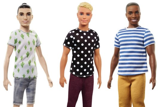 Sooo ... @Barbie's Ken dolls now have man buns and dad bods.