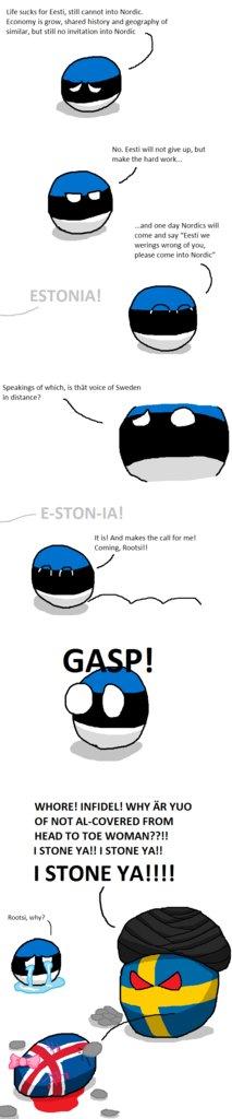 Polandball Animated Eesti Cannot Into Nordic Youtube