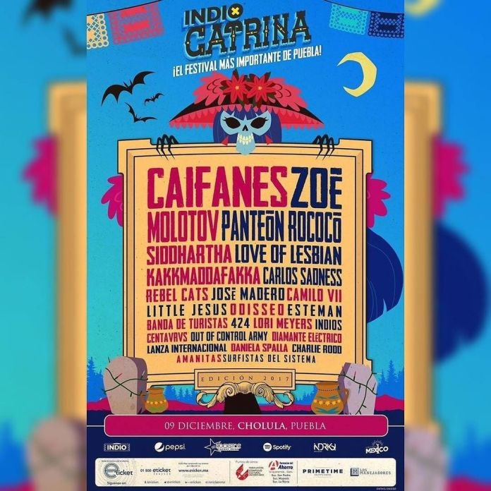 Vista del cartel del Festival Catrina 2017