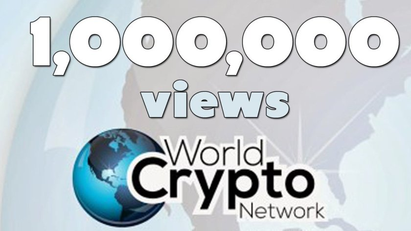 Celebrate 1,000,000 views with @WorldCryptoNet   #bitcoin #media #independent #onemillion