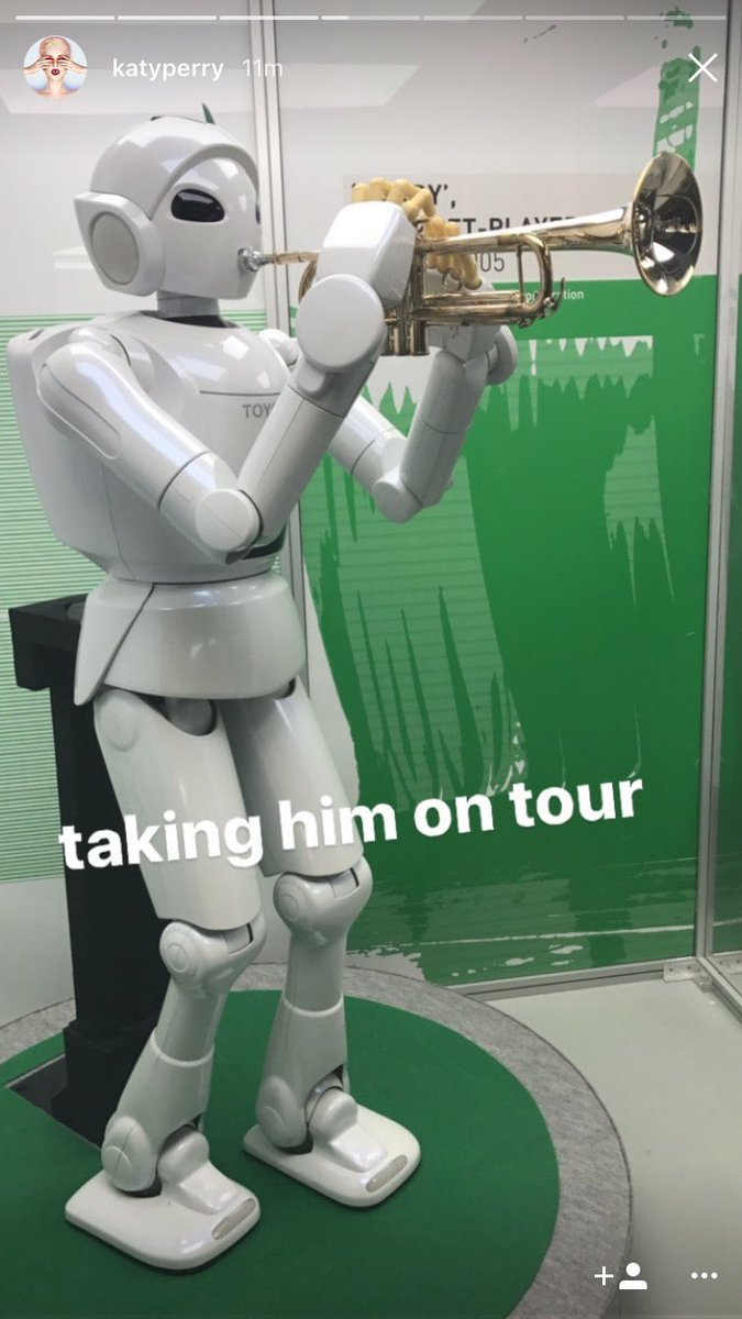 test Twitter Media - Huge fun giving @katyperry a tour of our #Robots exhibition yesterday. 📷 from Katy's @instagram story https://t.co/XjbB7c2t0T https://t.co/i379UrovjF