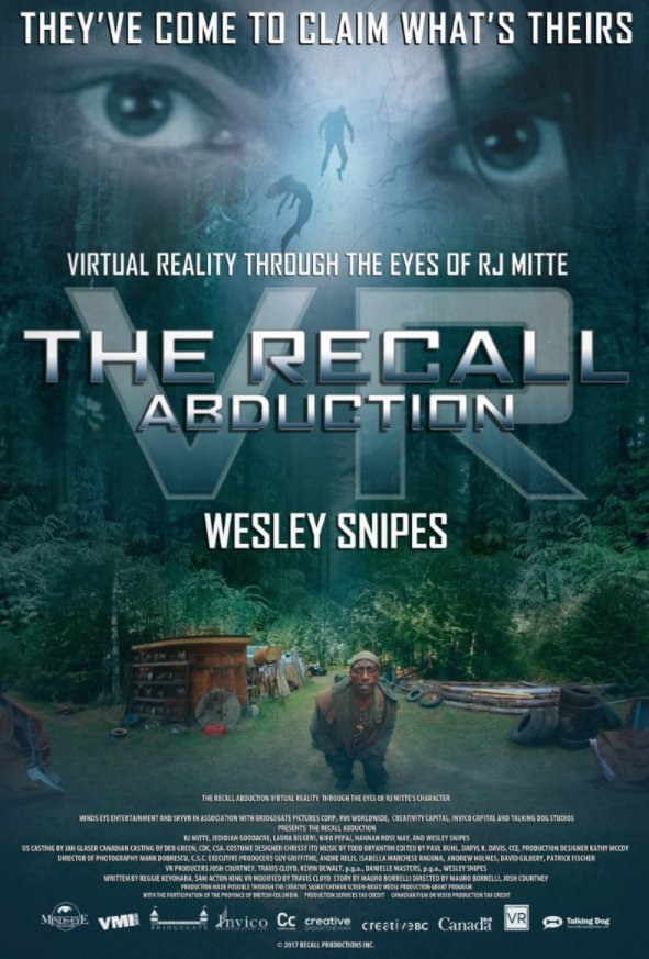 The Recall VR Abduction (starring Wesley Snipes) comes to Samsung #GearVR and #OculusRift: