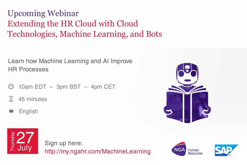 HR Bots, coming to an HR department near you soon. Find out more. Webinar 27 July.
