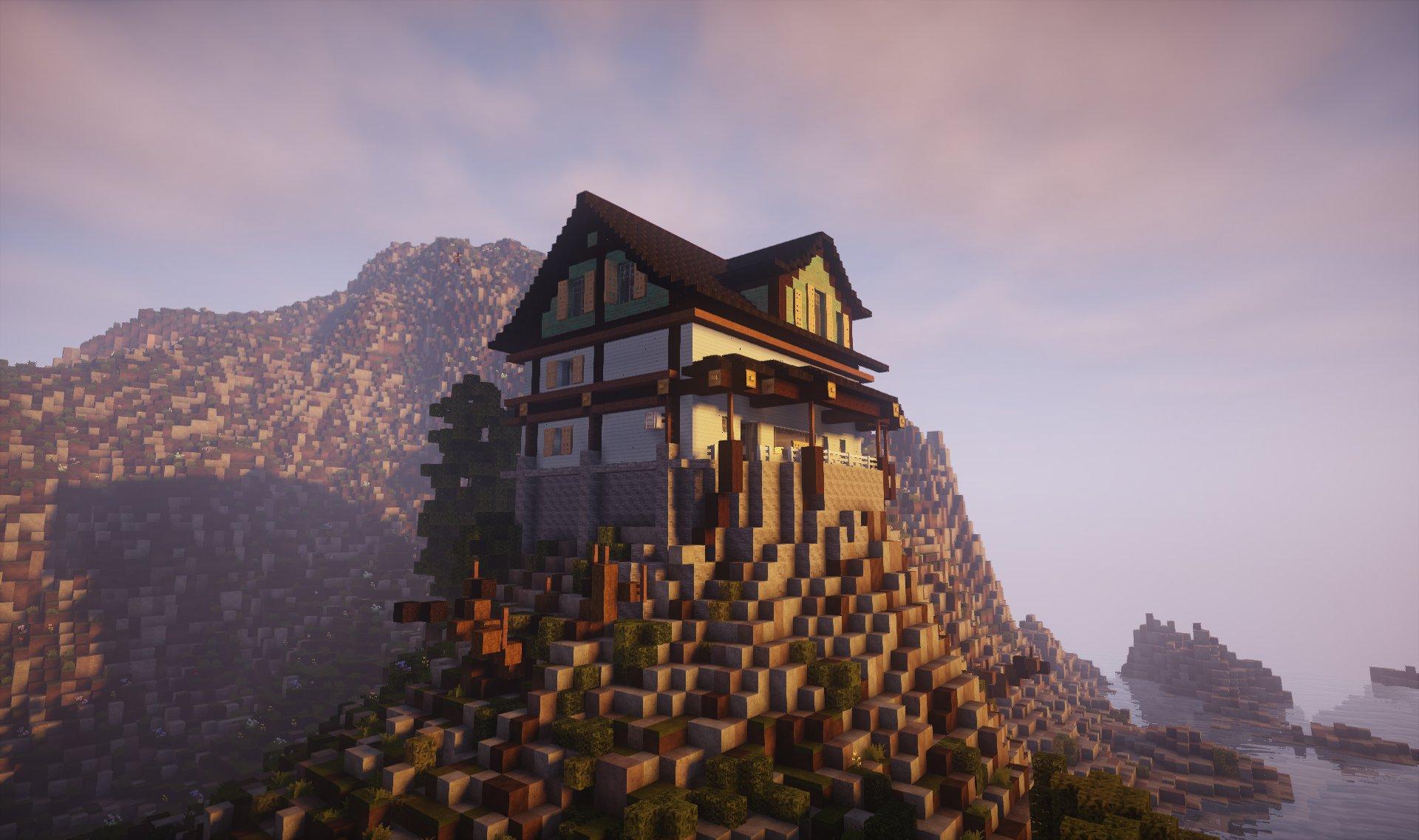 Amberstone Sur Twitter Maison Style Usa Accroche A La Falaise Sur Amberstone Fr Architecture Minecraft Maison Seaside Realise Par Oldfarmer Https T Co Hzgpqhb7vs