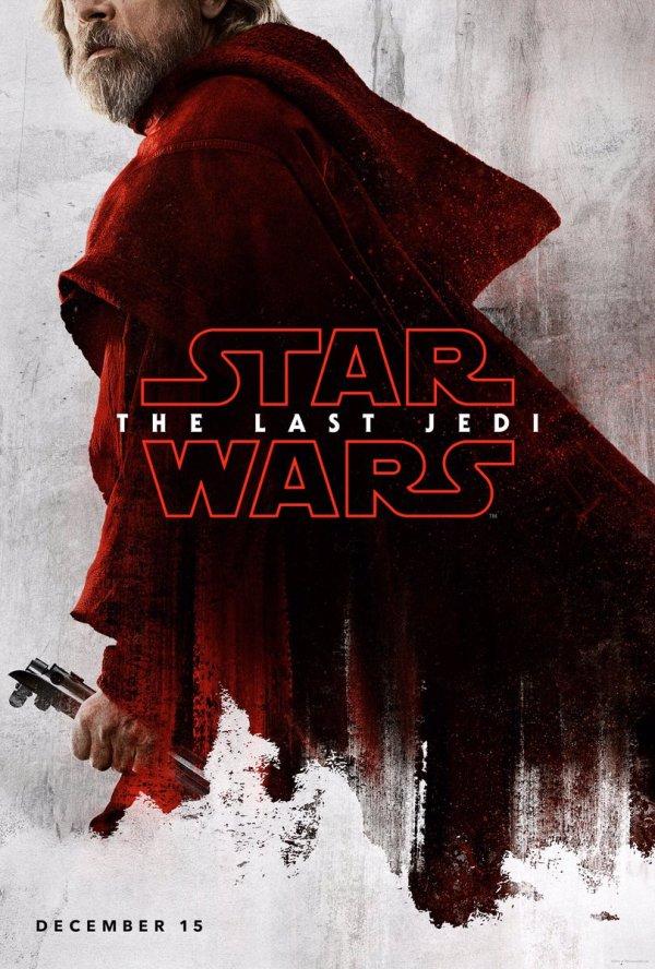 Nieuwe karakterposters van Star Wars VIII: The Last Jedi met Luke Skywalker