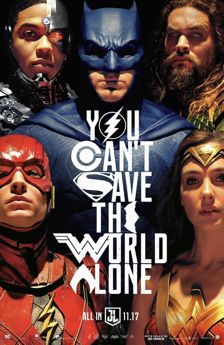 DCEU's Greatest Heroes Assemble In The New Justice League Poster