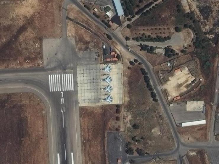 DGFf02hXoAU-24F Российская авиабаза Хмеймим расширяется