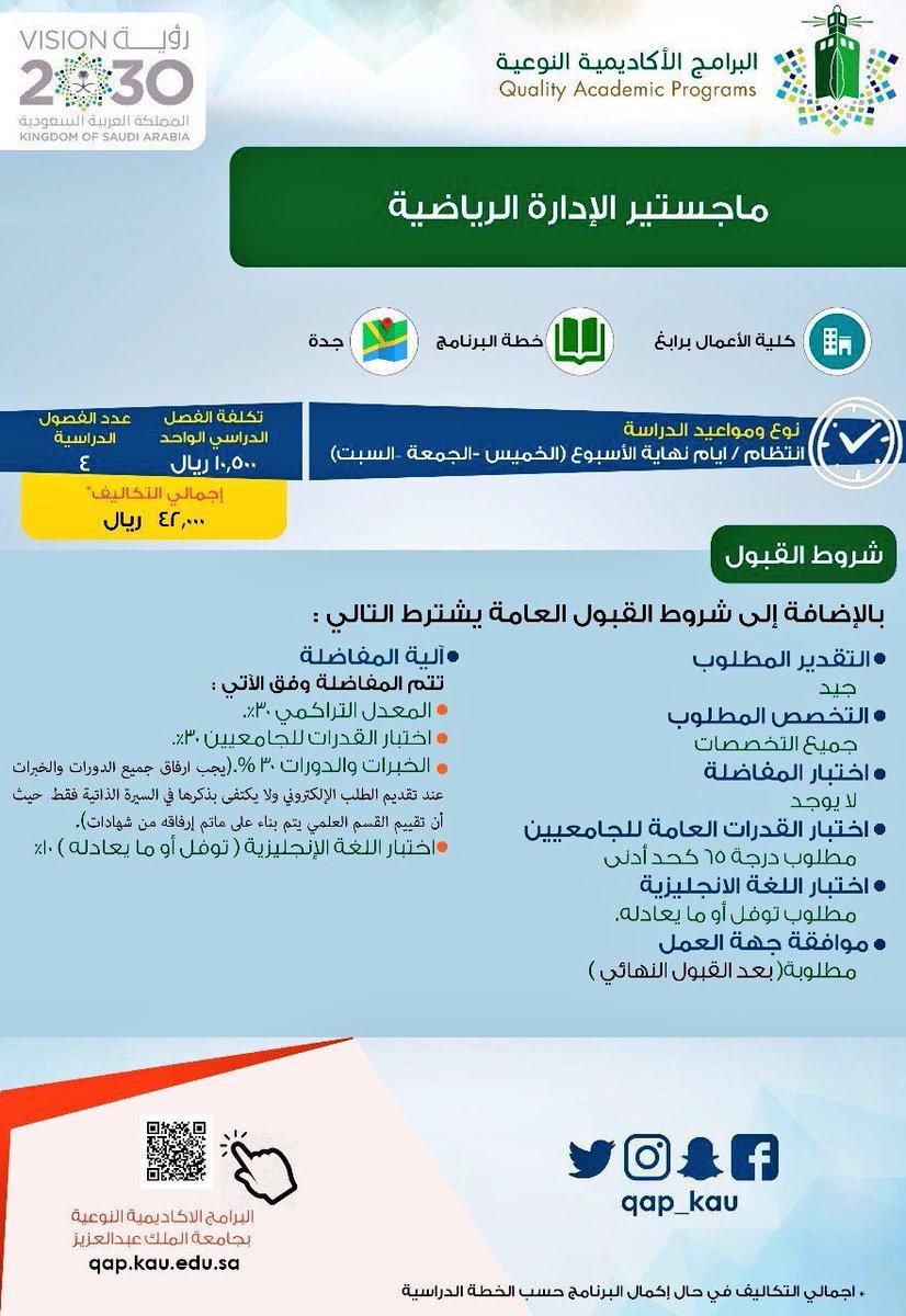 رسوم جامعة الملك عبدالعزيز ماجستير