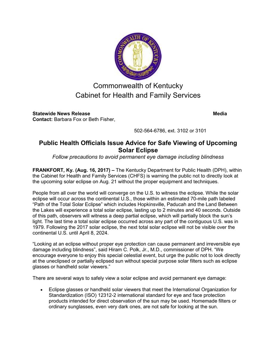 Great Commonwealth Of Ky Cabinet For Health And Family Services