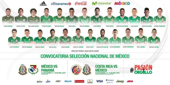 Convocados de México vs Costa Rica y Panamá