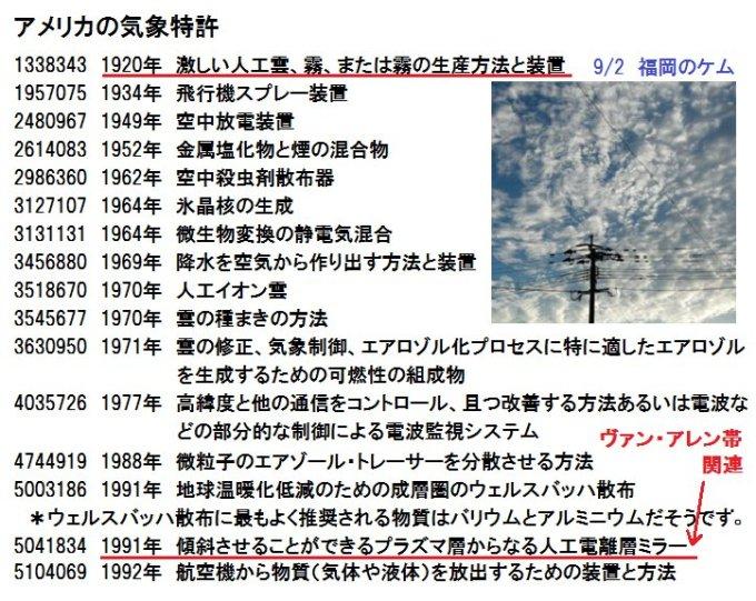 「ケムトレイル 特許」の画像検索結果