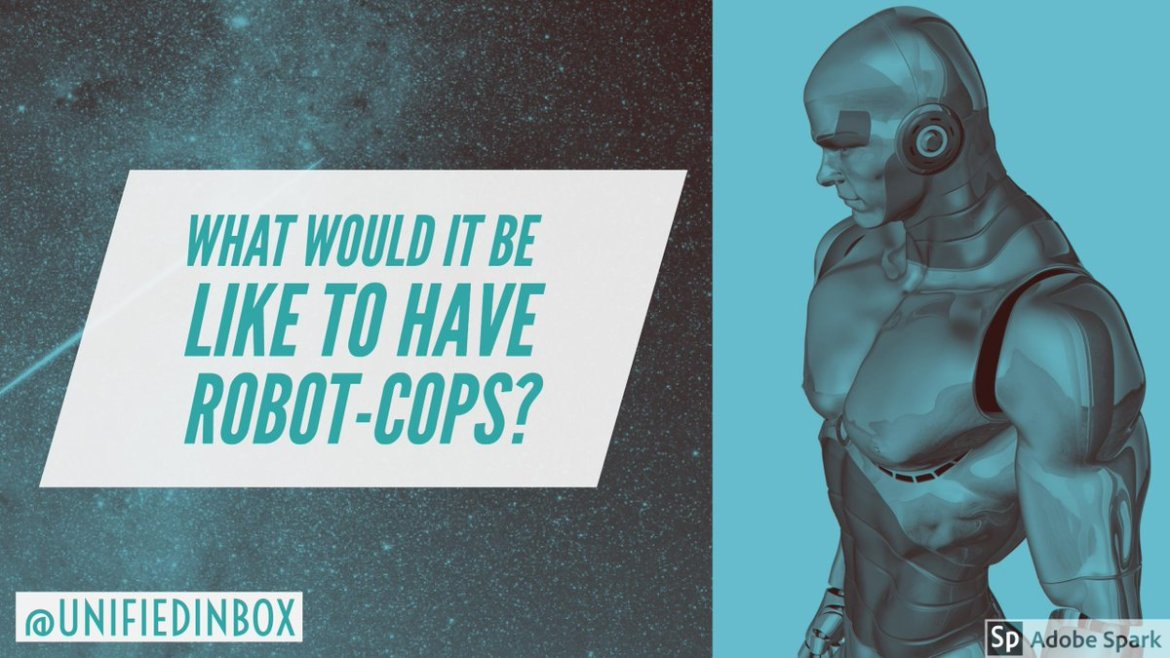 What would it be like to have #Robot - #Cops? 🤖 #IoT #AI #GIoT