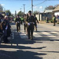 Carabineros de Parral participaron en desfile por el inicio del mes de la patria
