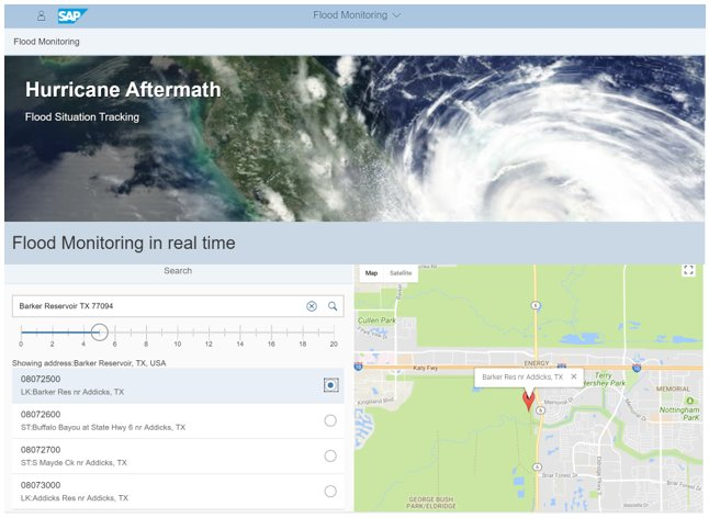 Hurricane Harvey: SAP Cloud Platform IoT Flood Monitoring.