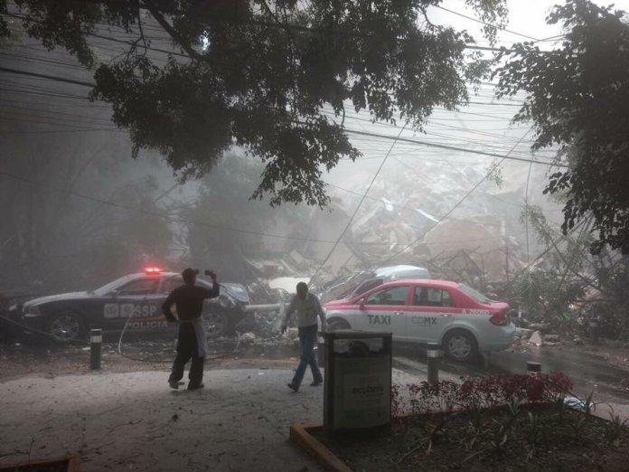 Fotos del sismo en México