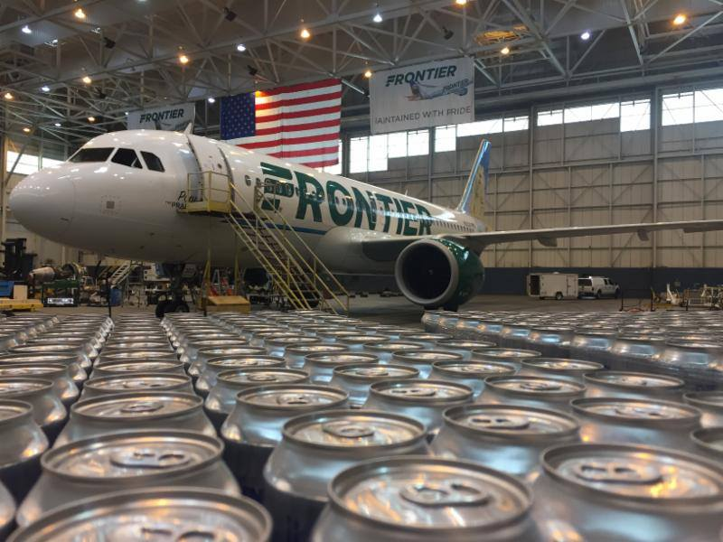 Frontier Airlines flies Oskar Blues water to Puerto Rico