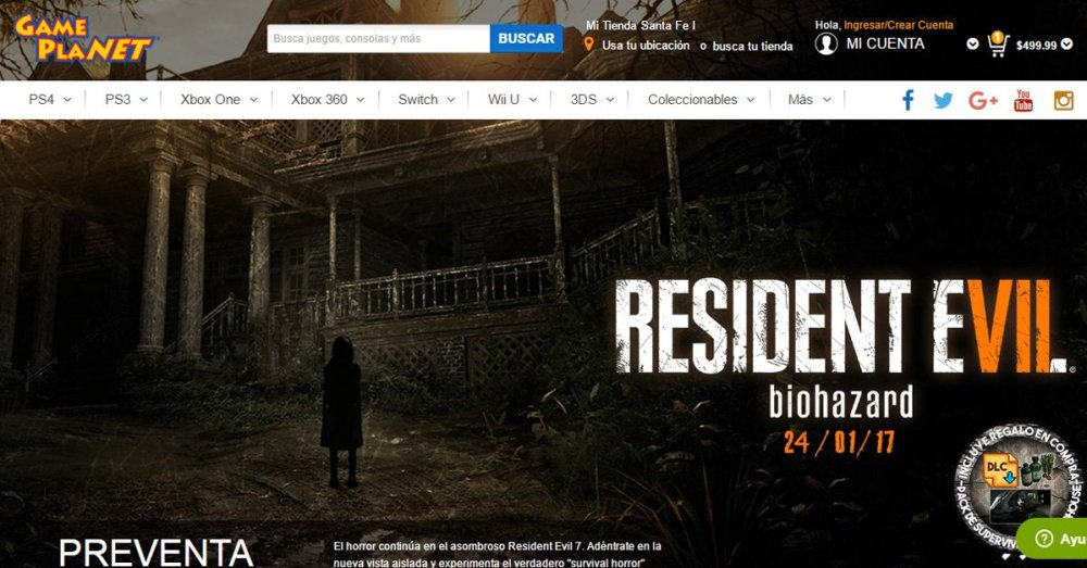 Para comprar videojuegos en línea en México. Gameplanet.