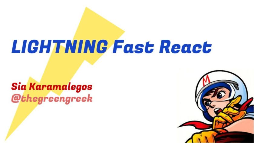 #ReactJS #Javascript RT @jsterlibs: Slides - Lightning Fast #reactjs Apps by @thegreengreek