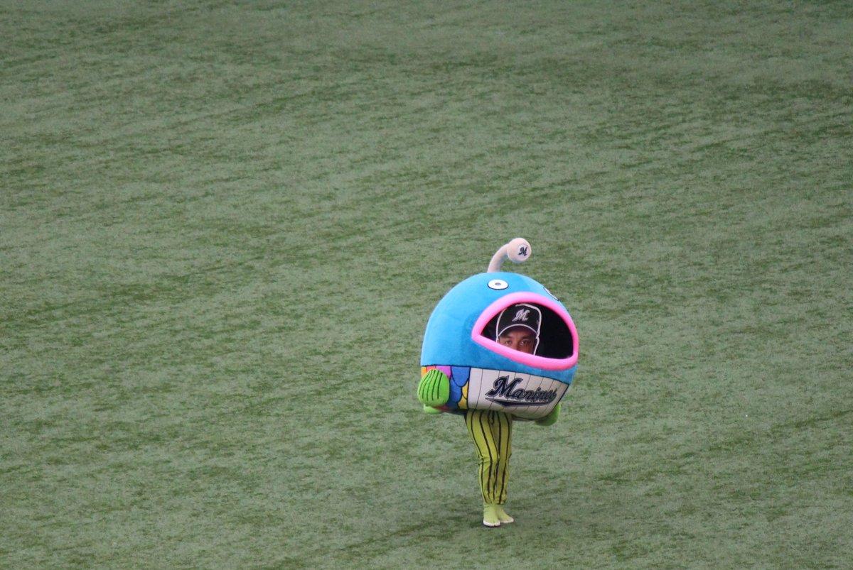 test ツイッターメディア - 2017/09/24 @zozoマリンスタジアム 謎の魚 口から井口さんの顔のやつ みせてた (笑´∀`) https://t.co/vbtfbhg8ON
