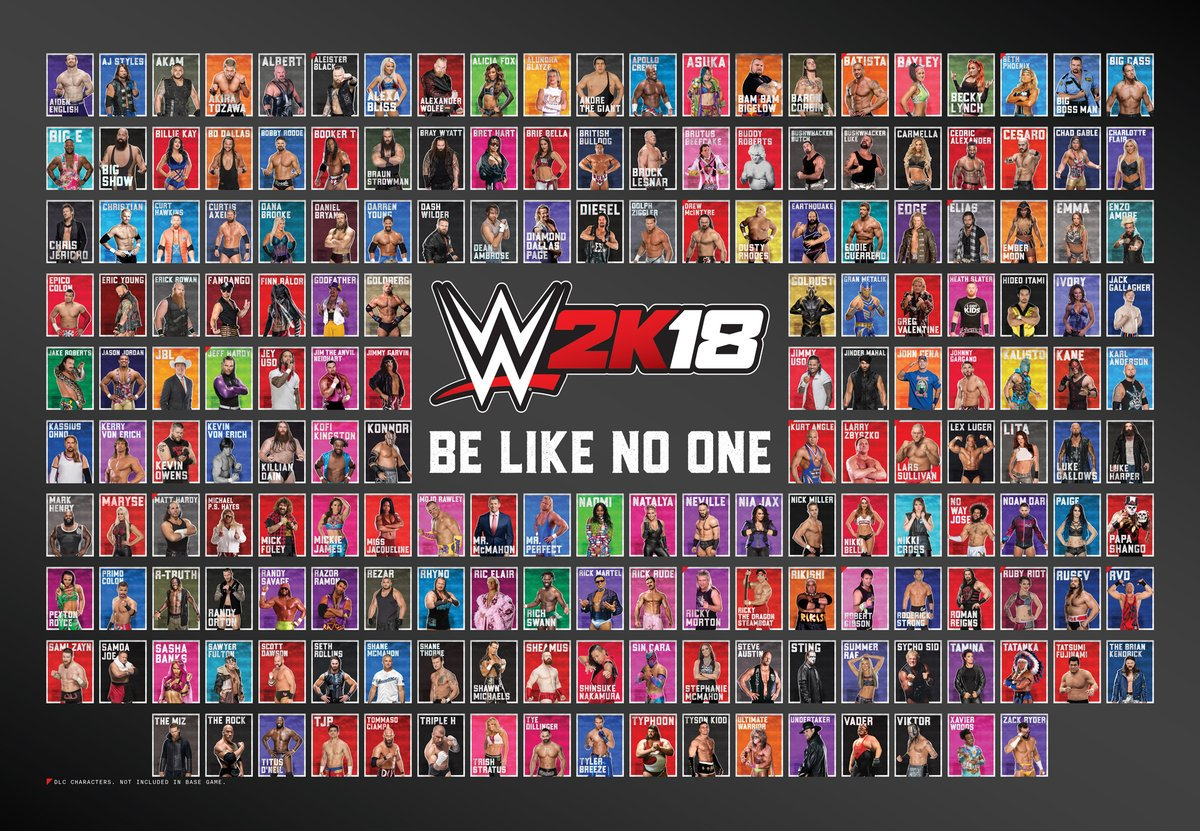 WWE 2K19 On Twitter The Entire WWE2K18 Roster Is Collected On One Poster Download It Here To
