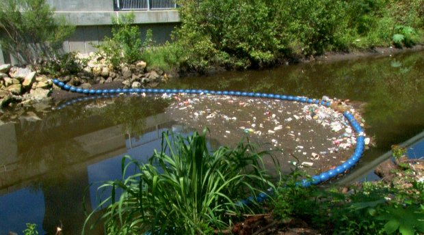 Local man's invention stops trash from getting into Tampa Bay
