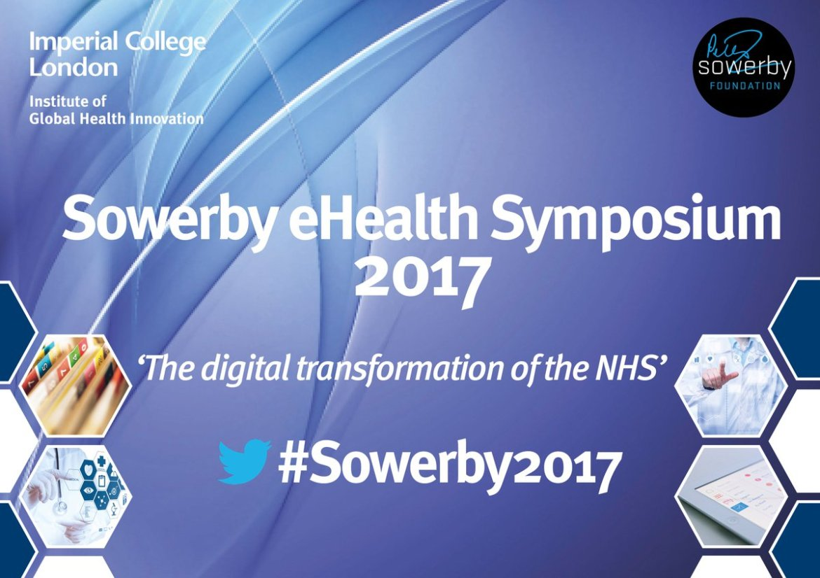 Live from #Sowerby2017 RIGHT NOW! Join us  #Ehealth #BigData #Healthcare #DigitalHealth