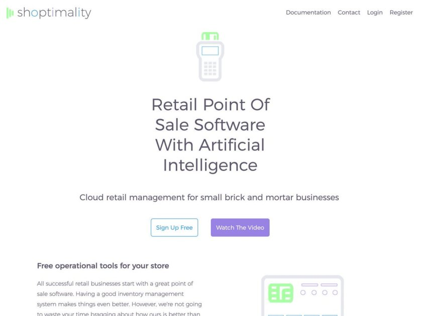 Shoptimality AI: Cloud POS with artificial intelligence