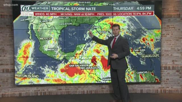 TS Nate expected to become a hurricane