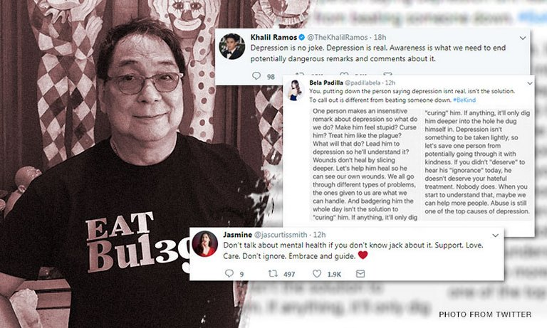 Personalities weigh in on mental health after controversial Joey de Leon comments