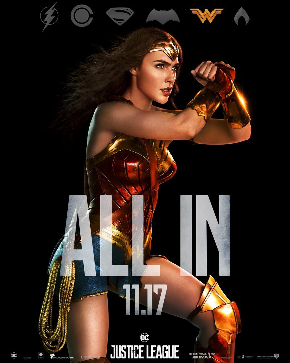 Justice League Character Posters