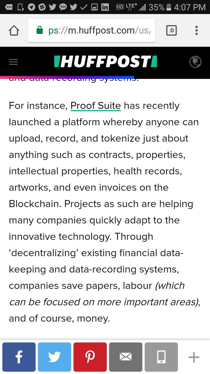 Proof Suite might no longer be as much of a secret.  @HuffPost