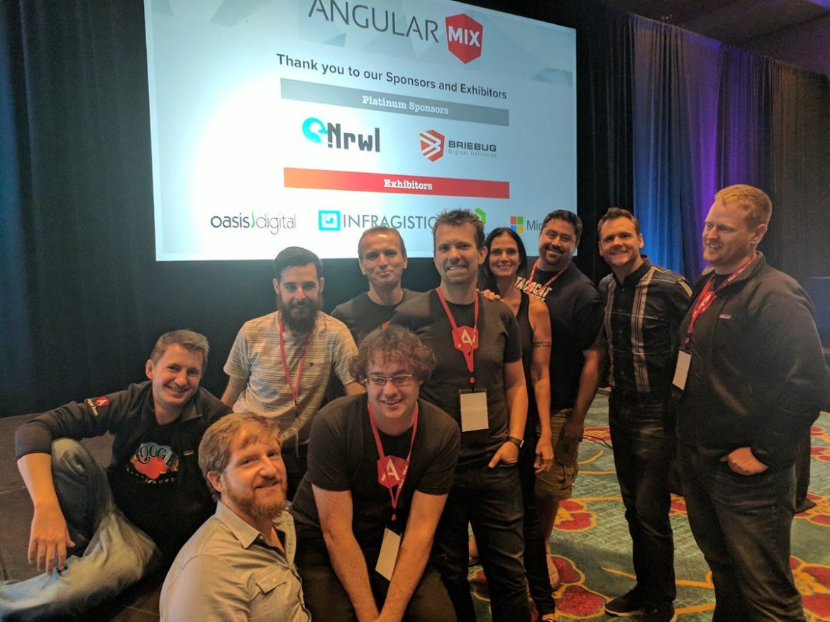The Angular Team was at #AngularMix last week .  Next up, #AngularConnect in London Nov 7-8!
