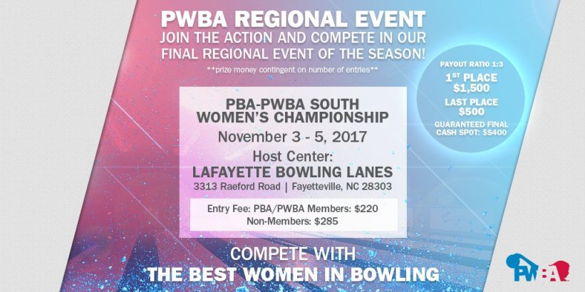 test Twitter Media - It's the FINAL Regional event! Compete with the best women in bowling, & register for the South Women's Championship Nov 3-5! https://t.co/Y0s4bvFDG3