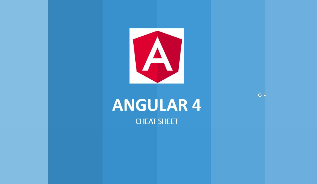Angular 4 Development Cheat Sheet