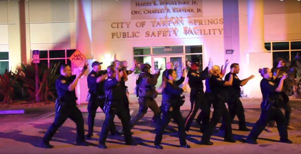 Tarpon Springs police, fire dance to 'Thriller' for Teal Pumpkin Project