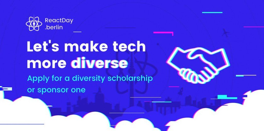 There's still a chance for you to get our diversity scholarship:  #ReactJS