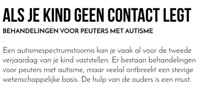 test Twitter Media - Je kind met autisme behandelen kan best. Het vergt alleen heel veel inspanning, vooral van ouders   📰 @eos_wetenschap  👉 https://t.co/tywtfuFJG5 https://t.co/TpzSqICv0W