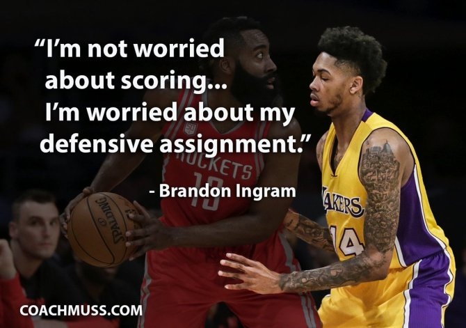 Brandon Ingram on his defense-first approach.
