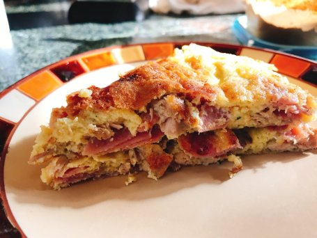 Ham amp; turkey frittata time!