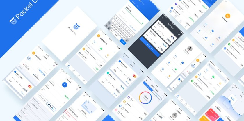 Pocket UI React-Native Theme: A React-Native theme for fintech apps  via @coEpic
