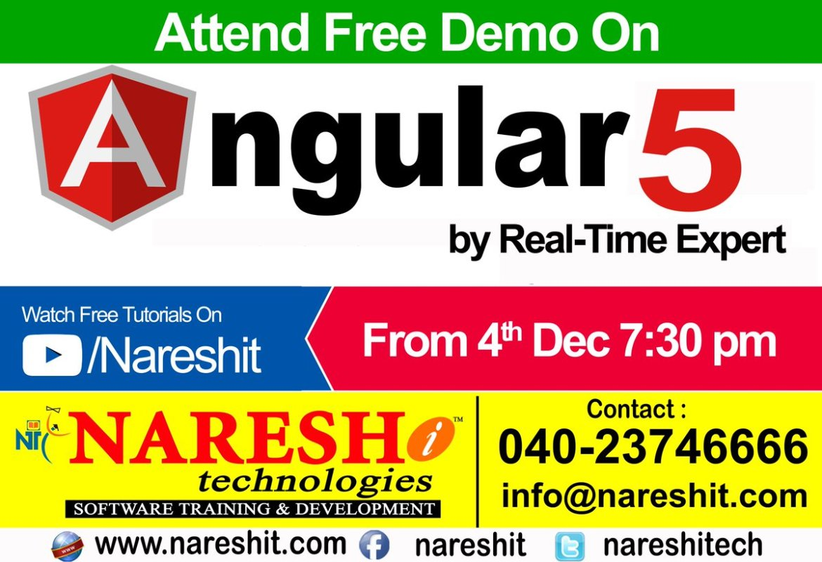 #Angular5 #Training in #Hyderabad by Real-Time Expert  Course Content: