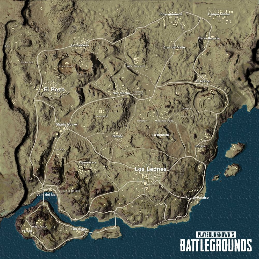 PlayerUnknown's Battlegrounds Desert Map, Miramar Revealed