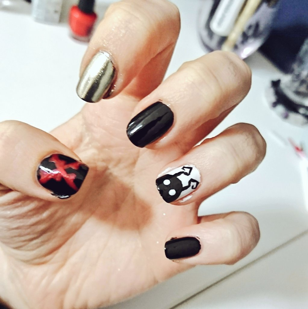 Thought I Should Share This Before Change My Nails Again Never Let Me Free Hand Nail Art It Was Hard Kingdomhearts Nailart Pic Twitter