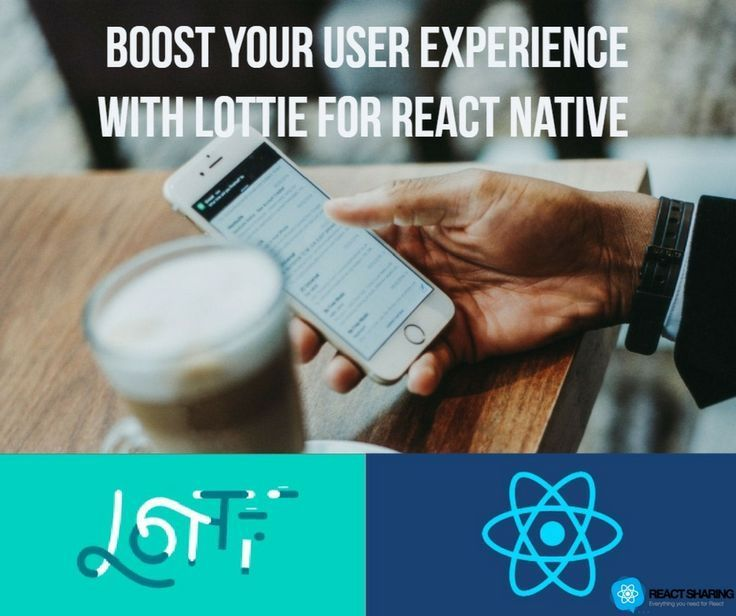Check it out:   #reactsharing #UX #Lottie #reactnative #tuts