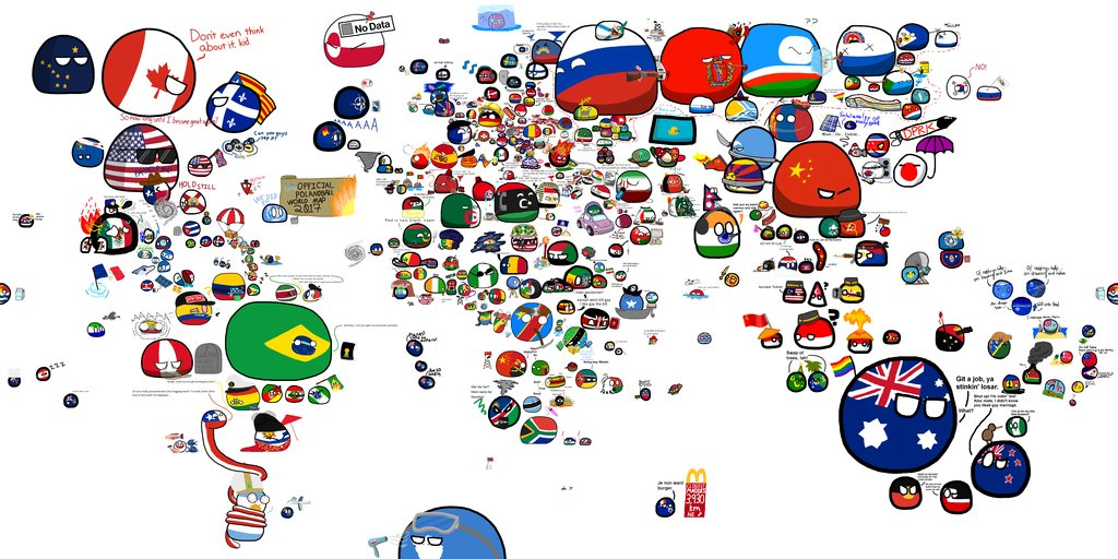 World War 1 Map In Countryballs Polandball Amino