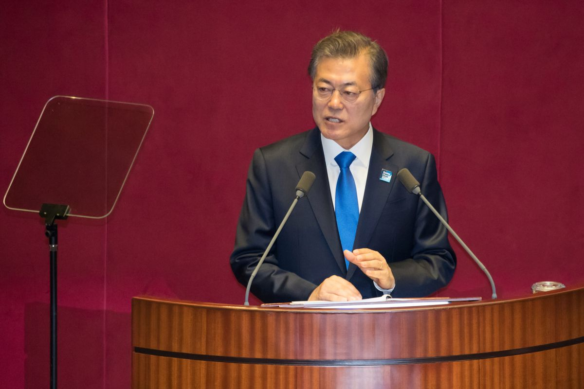 Image result for moon jae in site:twitter.com