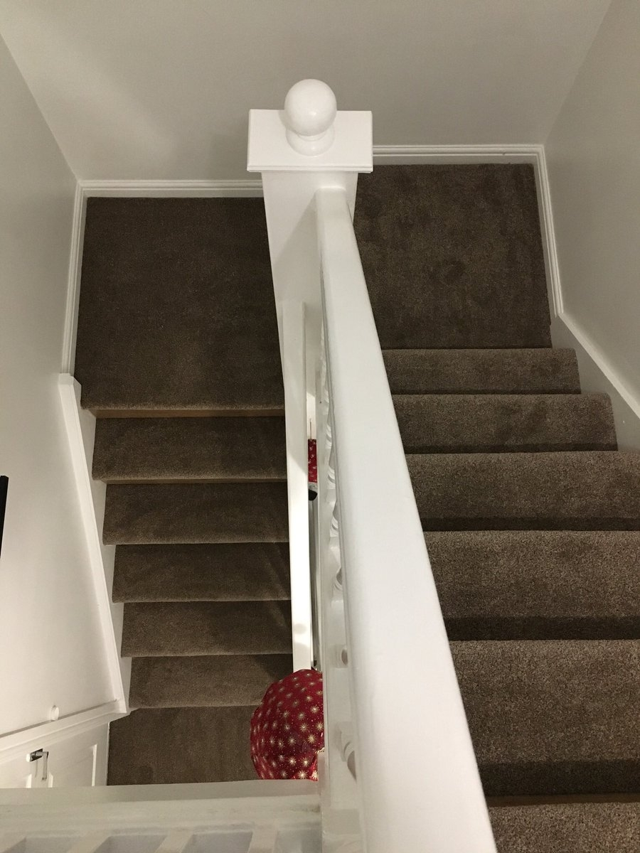 Carpets At Home On Twitter ⭐️Half And Half Stairs⭐️ Vip   Saxony Carpet On Stairs   Laminate Riser   Brown   Carpeted   Tread   Thick