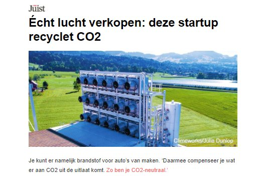 test Twitter Media - Écht lucht verkopen: deze startup recyclet CO2  📰 @juist_magazine  👉 https://t.co/qwtBTSXa8o https://t.co/RNgSkaLc8c
